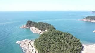 천리포 만리포 해수욕장 드론뷰
