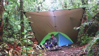 Solo Overnight Camp iฑ the Rain
