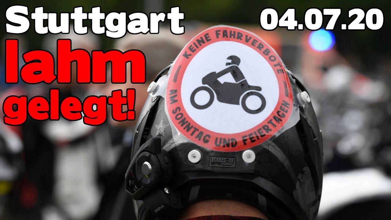 Biker legen Stuttgart für Stunden lahm! – Motorrad Demo Stuttgart 04.07.2020