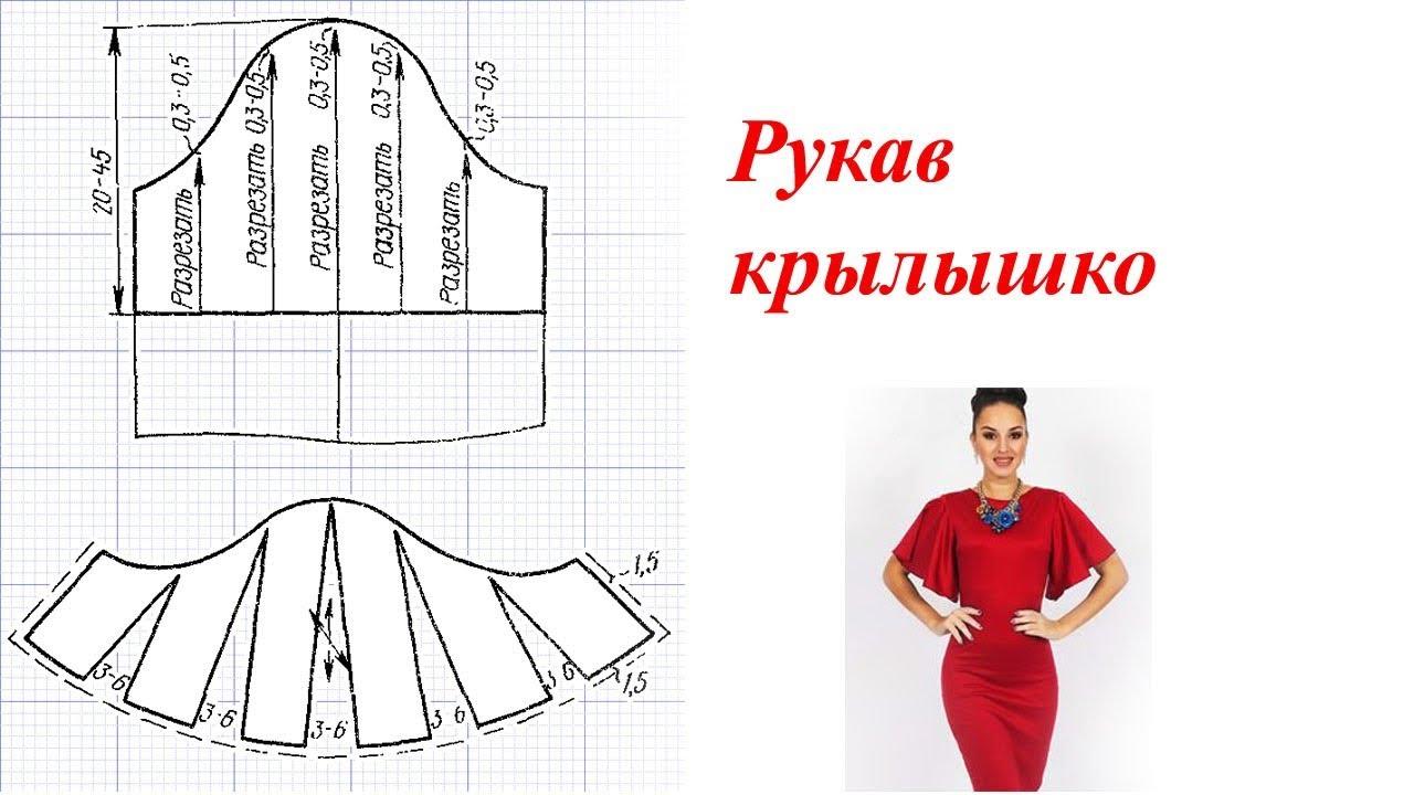 Крылышки для платья выкройка