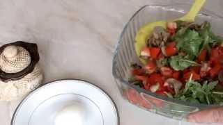 Салат с грибами и помидорами рецепт