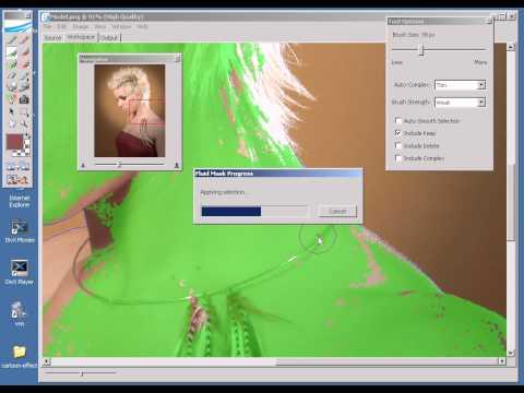 Photoshop CS2 - Phan 11 - Bai 4 - Fluid mask Tach nen kieu moi