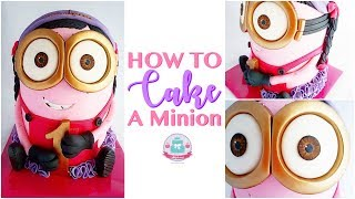 HOW TO MAKE A 3D MINION CAKE | Abbyliciousz The Cake Boutique
