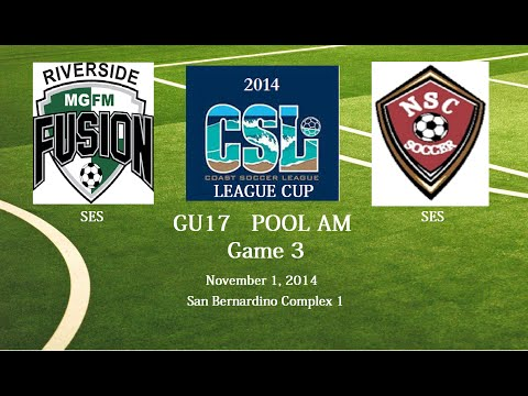 Riverside MGFM Fusion @ Nitemares SC United 97 (2014 LC G3) (Full Game)