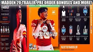 MADDEN 20 OFFICIAL TRAILER, PRE ORDER BONUSES AND MORE INFO! COVER ATHLETE MAHOMES! | MADDEN 20