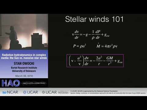 Stan Owocki | Bartol Research Institute | Radiation Hydrodynamics in the Sun vs Massive Star Winds