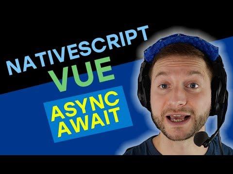 Async/Await in NativeScript-Vue with TypeScript
