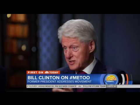 Former U.S. president Bill Clinton says the #MeToo movement is overdue. But he's bristling at questions about Monica Lewinsky. (The Associated Press)