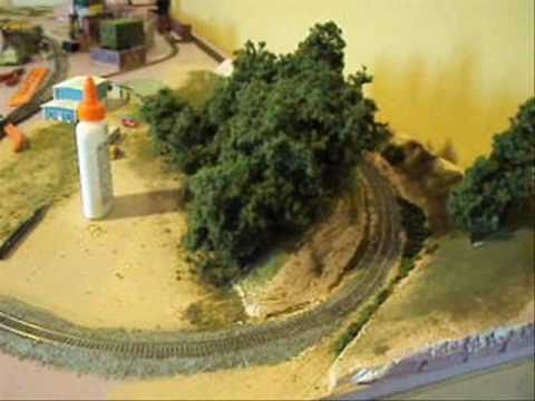 Model Railway Train Scenery -Superb Model Railroad Supertrees Tutorial