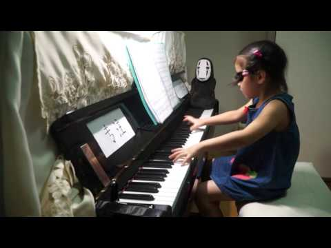 Anke Chen Age 5 Plays J.S English Suite No 6 BWV 811Gavotte I,II