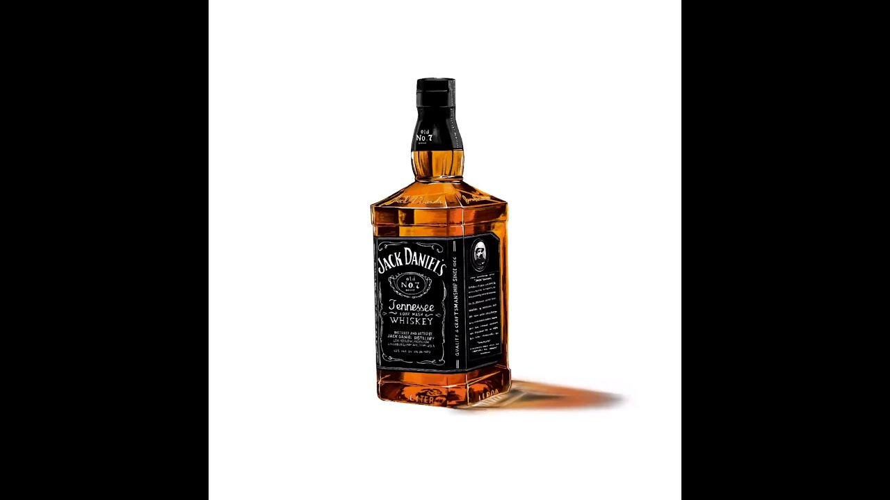 jack daniels bottle drawing - photo #26