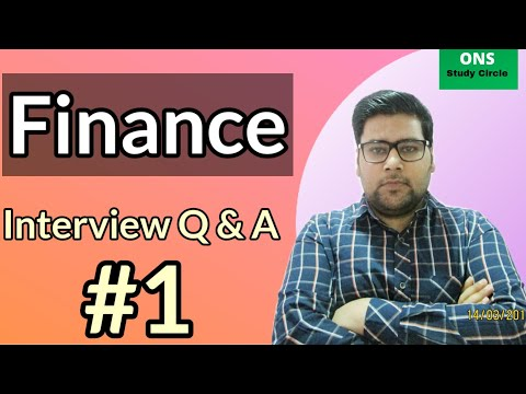 Finance Interview Questions And Answers | Finance Interview