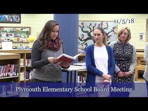 Plymouth School Board 11/5/18