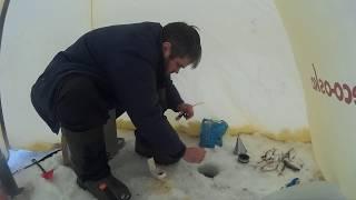 Зимняя рыбалка в палатке. Озернинское водохранилище 2017г.