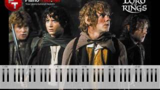 Lord Of The Rings - Concerning Hobbits Piano Tutorial