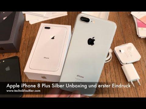 Apple iPhone 8 Plus Silber Unboxing und erster Eindruck