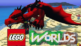 LEGO WORLDS Let's Play Lego In Minecraft Way New Lego Dragon Pet!