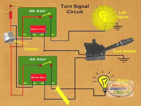 how to make a relay turn signal youtube rh youtube com Turn Signal Relay Location turn signal flasher circuit diagram