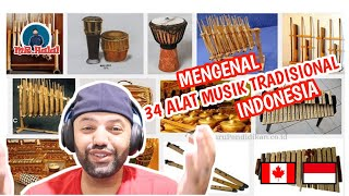 ALAT MUSIK TRADISIONAL 34 PROVINSI DI INDONESIA   ID INFO   MR Halal Reaction