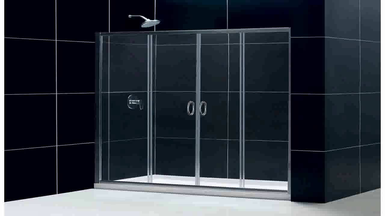 crl brite gold anodized frameless sliding shower door hardware package for