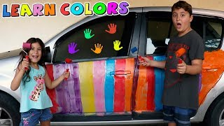 Pintamos o carro do papai - Aprendendo as cores