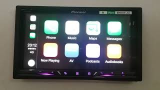 Pioneer AVH-Z5050BT Double Din Applecarplay Demo
