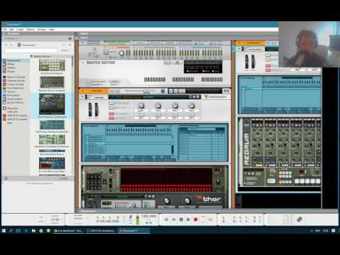 Live stream - Setting up a Modular system in Reason 9 (take 2)