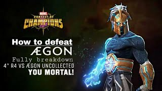 How to defeat ÆGON (Uncollected) Fully breakdown - Marvel Contest of Champions
