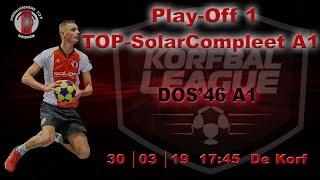 Play-off 1: TOP/SolarCompleet A1 tegen DOS'46 A1, zaterdag 30 maart 2019