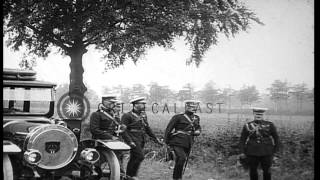 King George V of United Kingdom visits British Expeditionary Force troops at the ...HD Stock Footage