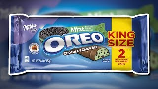 New Oreo And Milka Mint Flavored Chocolate Candy Bar