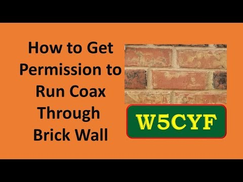 How I Got Wife's Permission to Drill Hole in Wall (Ham Radio Coax)