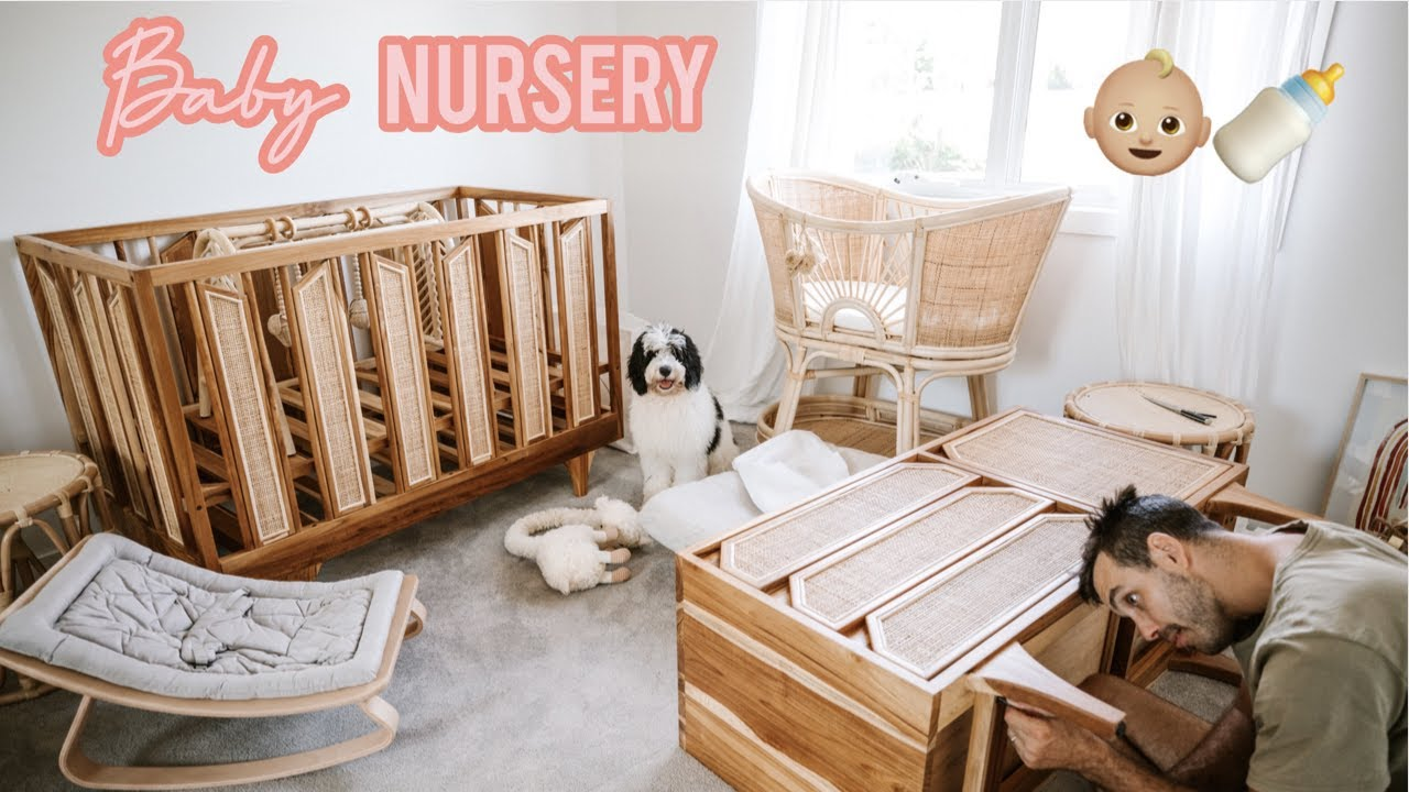 Building Our BABY NURSERY // Gender Neutral // VLOG - YouTube