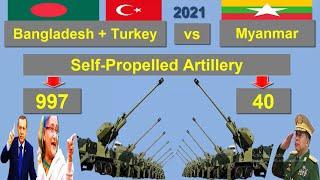বাংলাদেশ+তুরস্ক vs মিয়ানমার সামরিক শক্তি ২০২১ || Bangladesh+Turkey vs Myanmar Military Power 2021