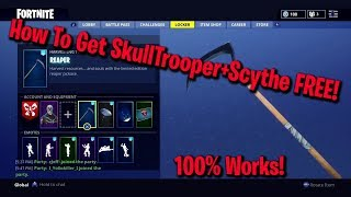 How To Get The Scythe+SkullTrooper EASY In Fortnite BR*Works In Game!*