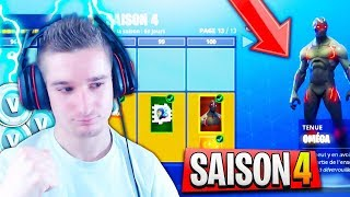 I BUY ALL SAISON PAS 4 ON FORTNITE! SKIN PALIER 100 😱