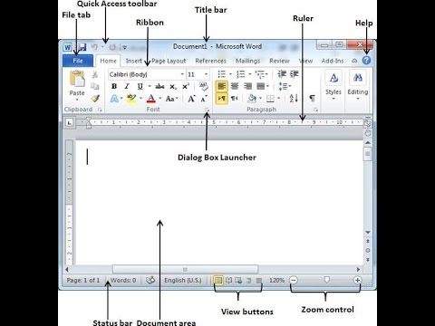 Microsoft Office word 2010 Basics Bangla tutorial part 1