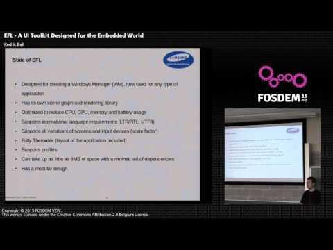 FOSDEM 2015 - Developer Room - Graphics - Efl
