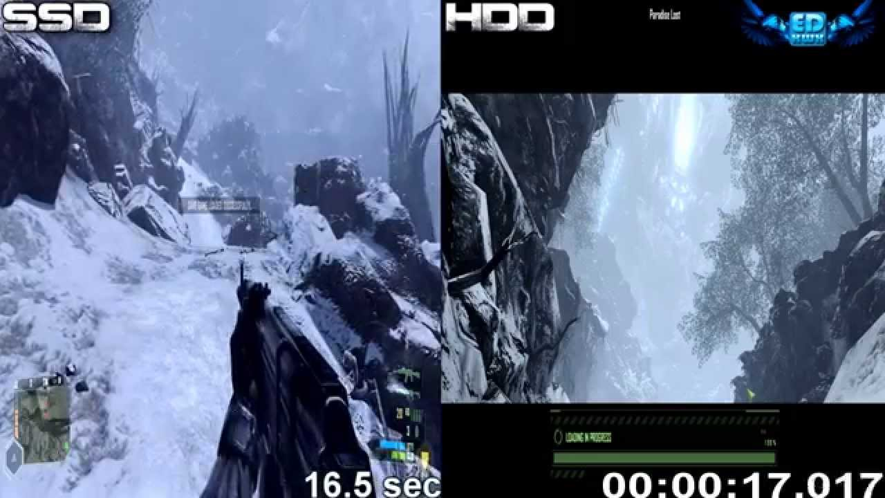 Ssd Vs Hdd Gaming Performance Load Time Comparison 1080p Youtube