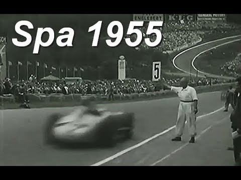 Fangio and Moss at Spa 1955 - Awesome Footage!
