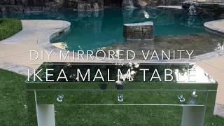 DIY MIRRORED VANITY TABLE / IKEA MALM TABLE ♡