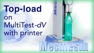 Top-load testing PET bottles with the MultiTest-dV  -  Mecmesin Force Measurement Systems