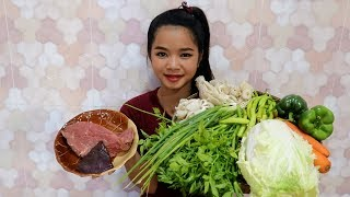 Cooking Fry Beef With Vegetable Special Delicious Recipe - Eating Food Show - No Talking