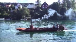 Dampfschiff auf dem Rhein bei Schaffhausen