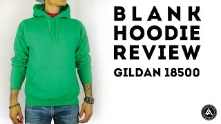 Blank Pull Over Hoodie Review Gildan Heavy Blend