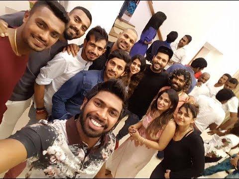 Indian Players Party At Malinga's House Sri Lanka, cricketer Singing Shikar dhawan,kohli, Rohit