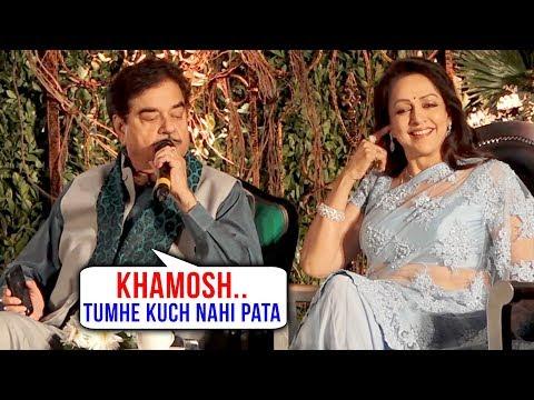 Hema Malini & Shatrughan Sinha FUNNY MOMENT Struggling To Talk At An Event