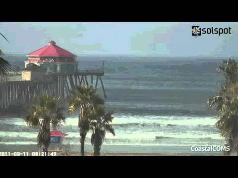 Tsunami 3 11 Time Lapse Huntington Beach California