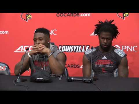 Stacy Thomas, Brandon Radcliff & Chucky WIlliams Kentucky Post-Game 11-26-2016