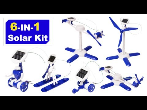 6 In 1 Solar Robot Kit - Educational DIY Build.